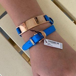 Henri Bendel Medium Blue Wrap Bracelet